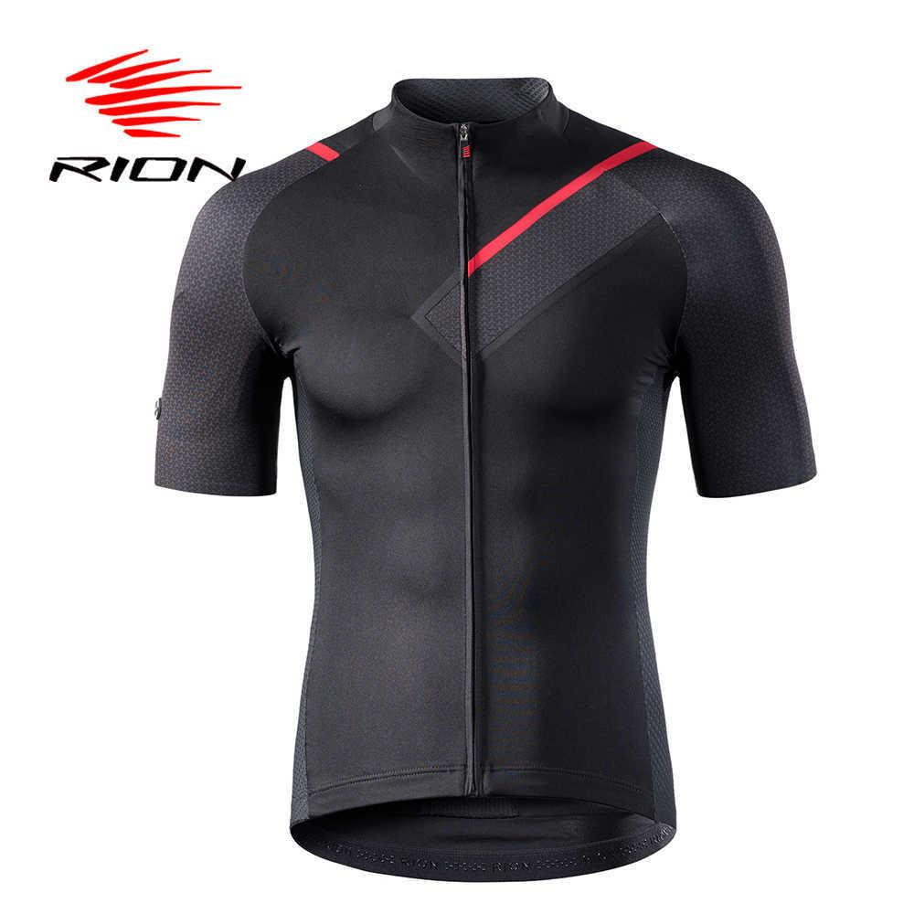 Rion Cycling Men's Jerseys Short Sleeves Bicycle Racing Downhill Tops Retro Mtb Mountain Bike Motor T Shirt Camisa Ciclismo
