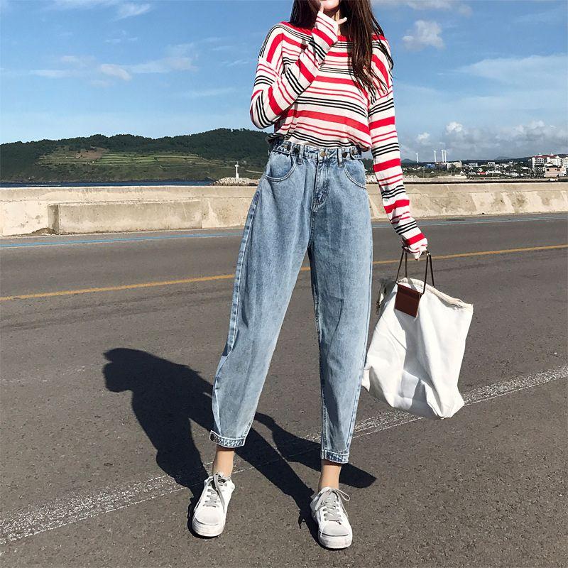 2020 джинсы шаровары джинсы повседневные джинсовые брюки Boyfriends Femme брюки рваные Урожай ретро