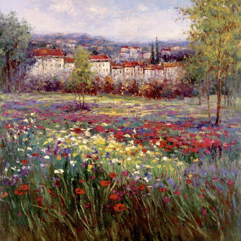 Impressionismus Kunstgemälde toskanische Freuden II Landschaften Öl Leinwand handgefertigte Kunst Geschenk
