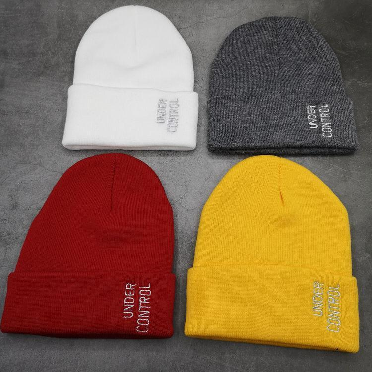 UND harfler erkekler için şapka yünlü ve kadınlar sıcak örme şapkalar hip hop soğuk kafa kapaklar ile çok yönlü Sare