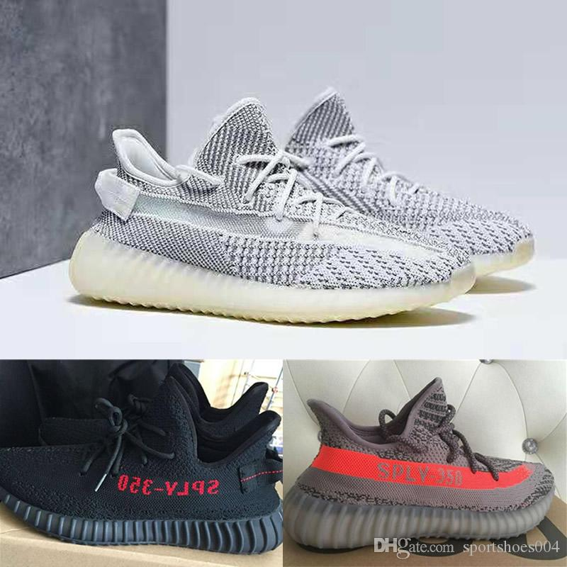 Statik Koşu Ayakkabıları V2 Mavi Tonu üçlü Zebre Bred spor ayakkabı unisex Beyaz eğitmenler Tereyağı Susam Sneakers tasarımcı ayakkabı 36-46
