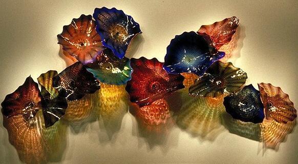 100% рот боросиликатная лампа лампы из мурано-лампы элегантные красочные пластины ручной вручную стеклянные стеклянные стены