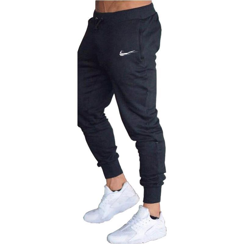Bolso Casual Outdoor Sports carga calças dos homens para meninos outono com cordão de Fitness Jogging calças compridas Sweatpants