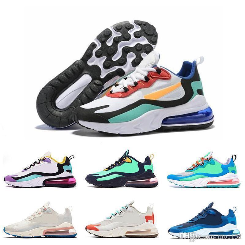 2019 Nueva unisex zapatillas de deporte de diseño reacciona Formadores de los zapatos corrientes Max Hombres Mujeres Bauhaus Hyper Jade zapatos atléticos Phantom Multi 1