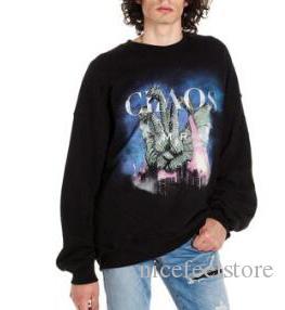 Diseñador de las mujeres de los hombres de lujo de diseño con capucha de alta calidad imprimió Hip Hop agujero con capucha marca de moda de los hombres de la camiseta Negro S-XL