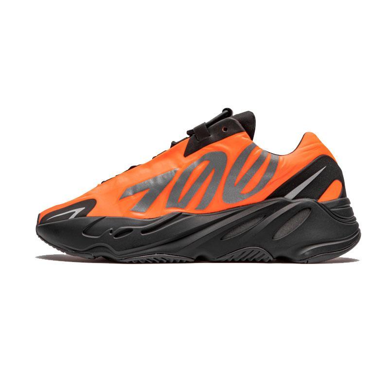 Nuova 700 MNVN Scarpe Arancione Triple Nero Bone Phosphor Kanye West 700 V2 corridore dell'onda Vanta scarpe da tennis con la scatola Tag esecuzione