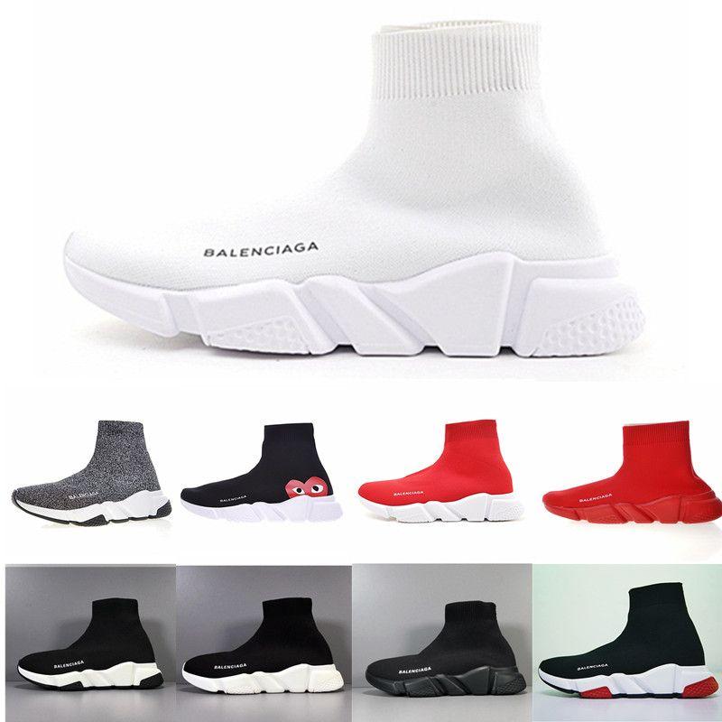 Luxus-Socken-Schuh Speed gestrickte Trainer-zufällige Turnschuhe Speed Trainer Socken-Rennen Mode Schwarze Schuhe Herren Damen Sportschuhe Alle RED RUY522