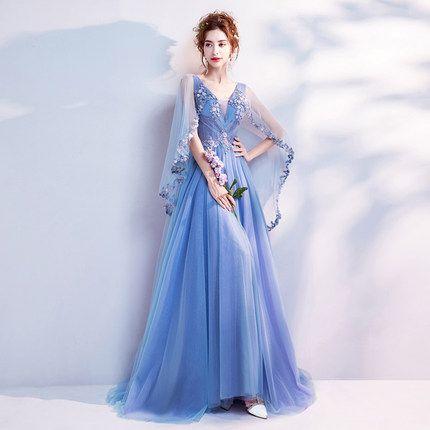 FREEship fée broderie manteau bleu clair scène d'opéra robe longue robe médiévale Renaissance Victoria Antoinette cosplay / Belle boule