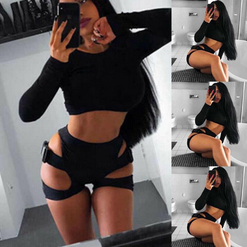Kadınlar Leopar Yüksek Bel Sıkı Yoga Şort Sportwear Egzersiz Fitnes Yan Toka Bandaj Hollow Spor Atletik Shorts Koşu