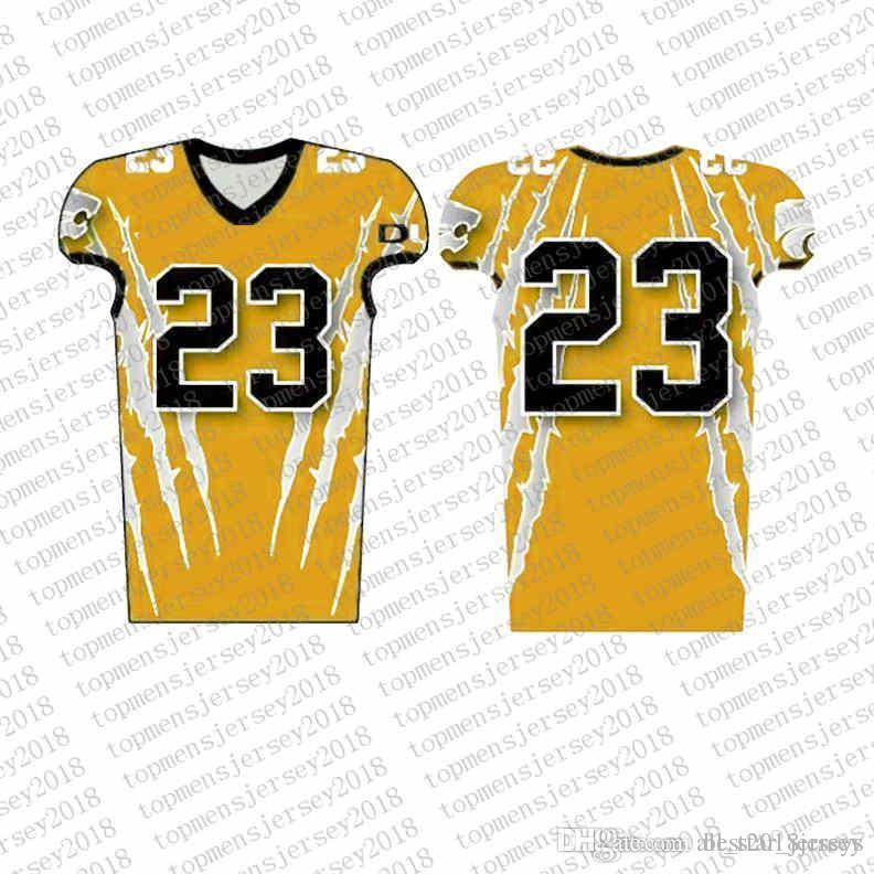 Top Custom Football Jerseys Mens Stickerei Logos Jersey Freies Verschiffen billig Großhandel jeder Name eine beliebige Anzahl Größe S-XXXL00005