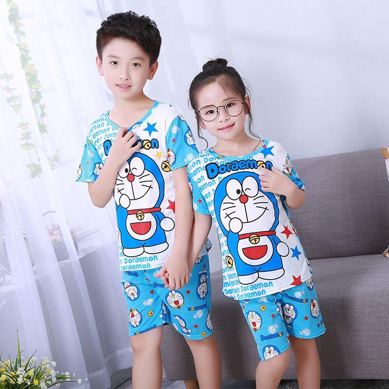 Pajamas set for children autumn summer Boys Girls Kids home Clothing Cartoon long Sleeve baby Sleepwear Suit Christmas Gift