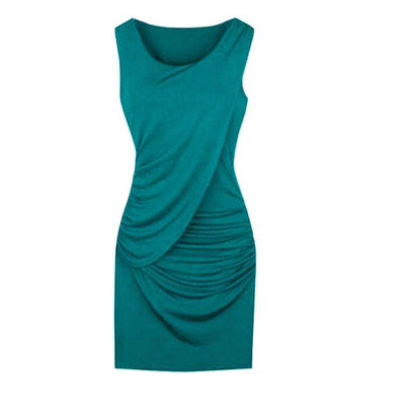 Progettista delle donne Primavera Estate Nuove Abito senza maniche Ladys solido di colore casuale vestito delle donne più i vestiti di marca di vestiti 2020 all'ingrosso