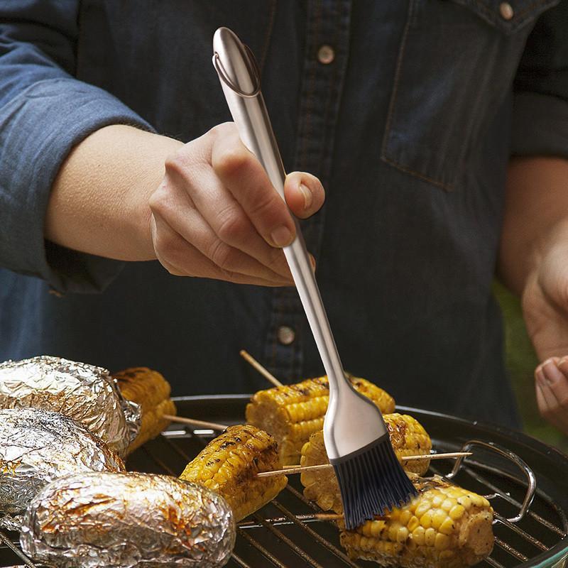 Churrasco Escova destacável Projetado molho de escova de aço inoxidável para churrasco Escova manteiga Pão BBQ Soy Brushes Acessórios de cozinha