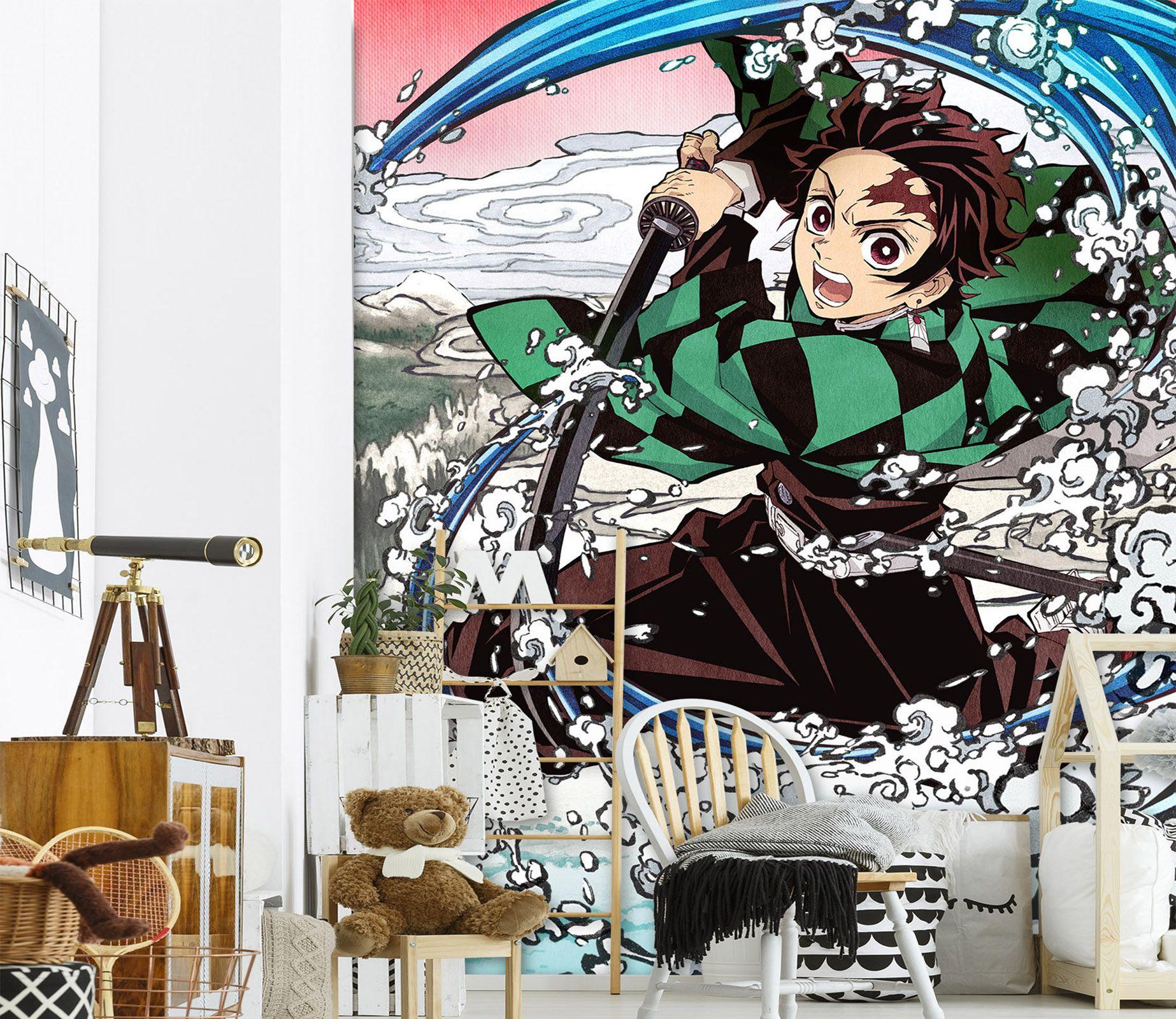[Self-Adhesive] 3D Kimetsu No Yaiba 0235 Wall Paper mural Wall Print Decal Wall Murals Muzi