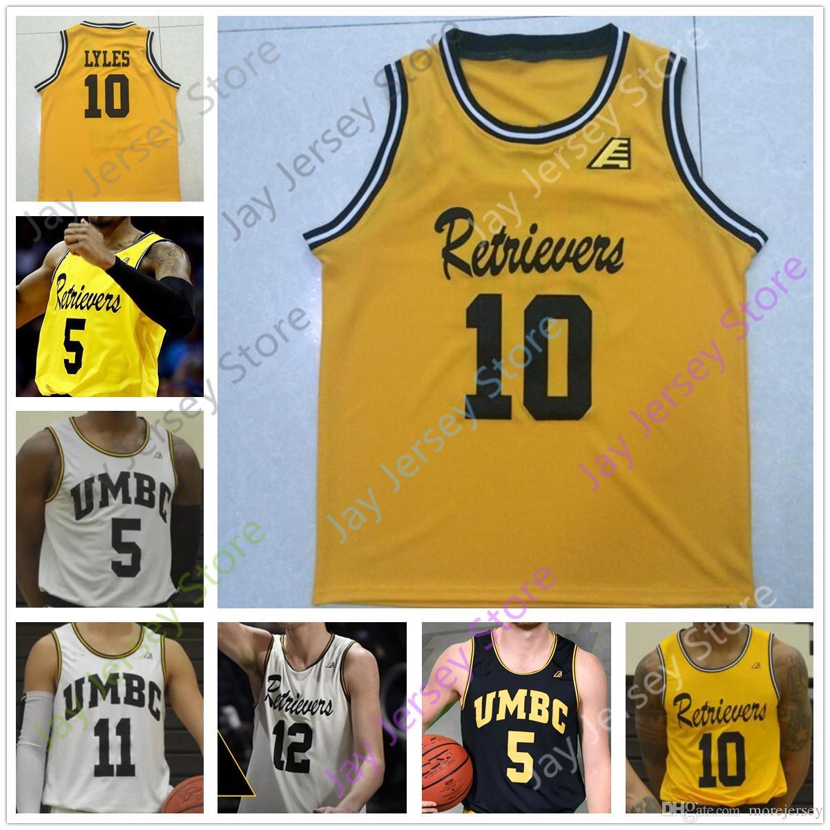 Personnalisé UMBC Retrievers Basketball Jersey College L.J. Owens Darnell Rogers Dimitrije Spasojevic Conseil Ricky II Brandon Horvath