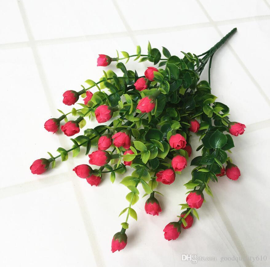 5pcs artificiali eucalipto germoglio ramo vegetale parete per la disposizione dei fiori puntelli di nozze bouquet casa bar decorazione dell'hotel