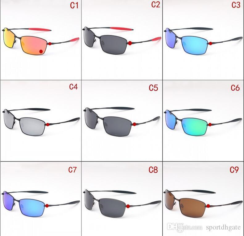 New Metallrahmen 00976 Sonnenbrille UV400 polarisierte Objektiv Frauen Männer Sport Sonnenbrillen Fashion Trend Radfahren Brillen Farben im Freien Sonnenbrille