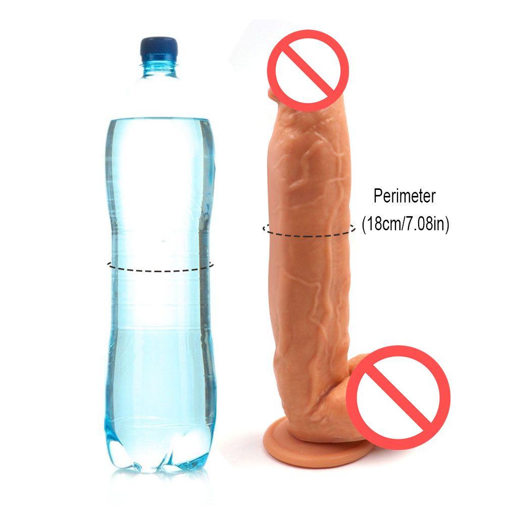 Dev Eti Yapay Penis Kalın Büyük Yapay Penis Aşırı Büyük Kadınlar için Gerçekçi Yapay Penis Vantuz Seks Ürün (31 CM)