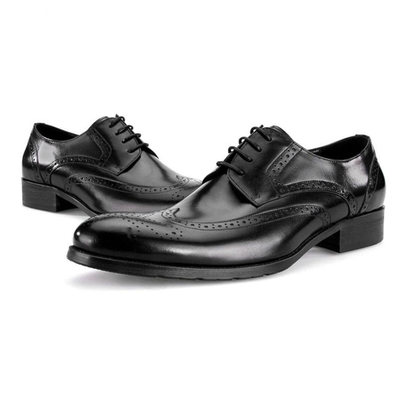 Mens formale echtes Leder Oxford Schuhe für Männer italienische Kleidung Schuhe Hochzeit Schuhe Schnürsenkel Leder