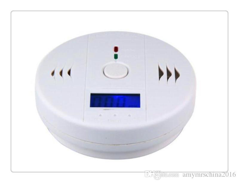 CO تستر أول أكسيد الكربون تحذير الاستشعار إنذار الحريق كاشف الغاز للكشف عن التسمم LCD عرض مراقبة أمن الوطن إنذار السلامة
