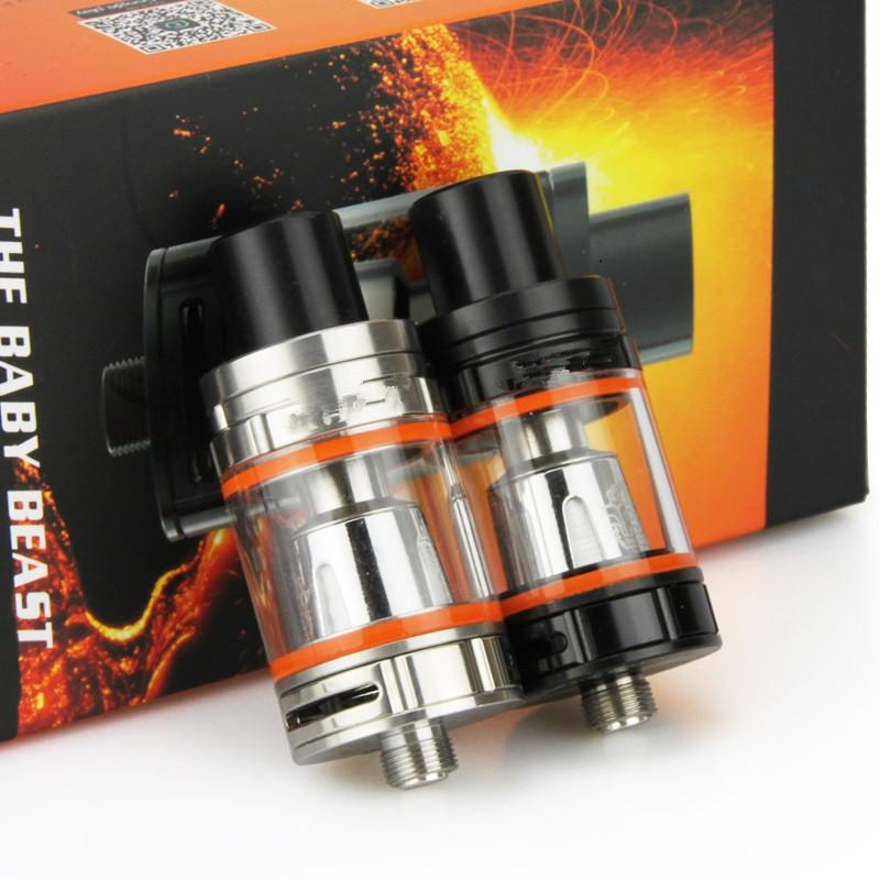 Top Quality Baby Tank E Cigarette Top-Filling 3ml Sub Ohm Atomizer with Q2 0.4ohm X4 0.15ohm Coil Head Gift Box Pack for 510 Box Mod