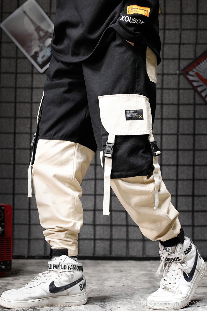 2020 Japanese Restoration Hakka Colour Pocket Leisure Mens Designer Joggers Pants Bf Wind Mens Loose Foot Binding Workwear Pant From Ymj3522300 33 51 Dhgate Com