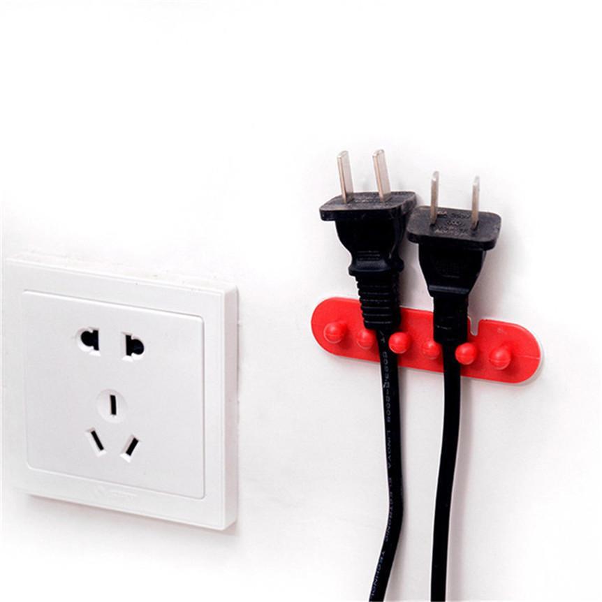 para Varios Cables o para Cables Gruesos Red Transparente GOLRISEN Clip Cable Sujeta Cables Pared 32 unids Organizador de Cables con Adhesivo Abrazadera de Cables para Cable de USB Cargador TV