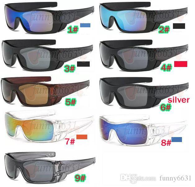 летние мужчины вождения солнцезащитных очков Dazzle цвета линза спортивных очки женщины выпученных велосипеды стекло пляж вождение очки 9colors свободного корабль