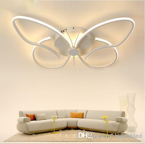 Moderne Minimalist LED Decken Kronleuchter Schmetterling Deckenbeleuchtung dimmbare Beleuchtung für Zuhause Kinderzimmer Dekoration Licht Leuchte