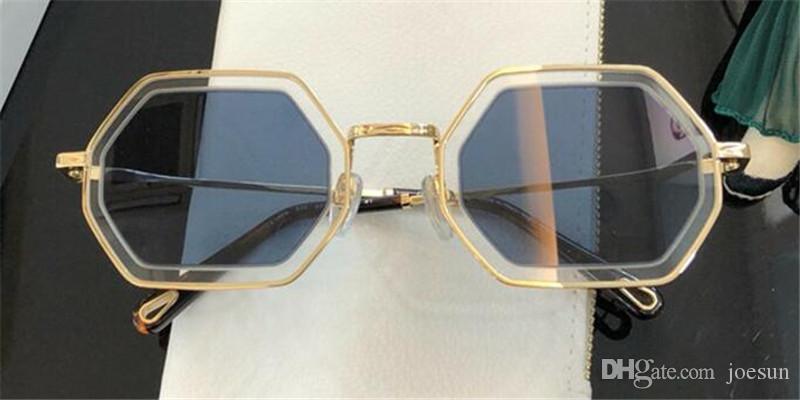 Nova moda óculos de sol populares quadro irregular com pernas especiais lente projeto desgastando da mulher tipo favorito 146S de qualidade superior