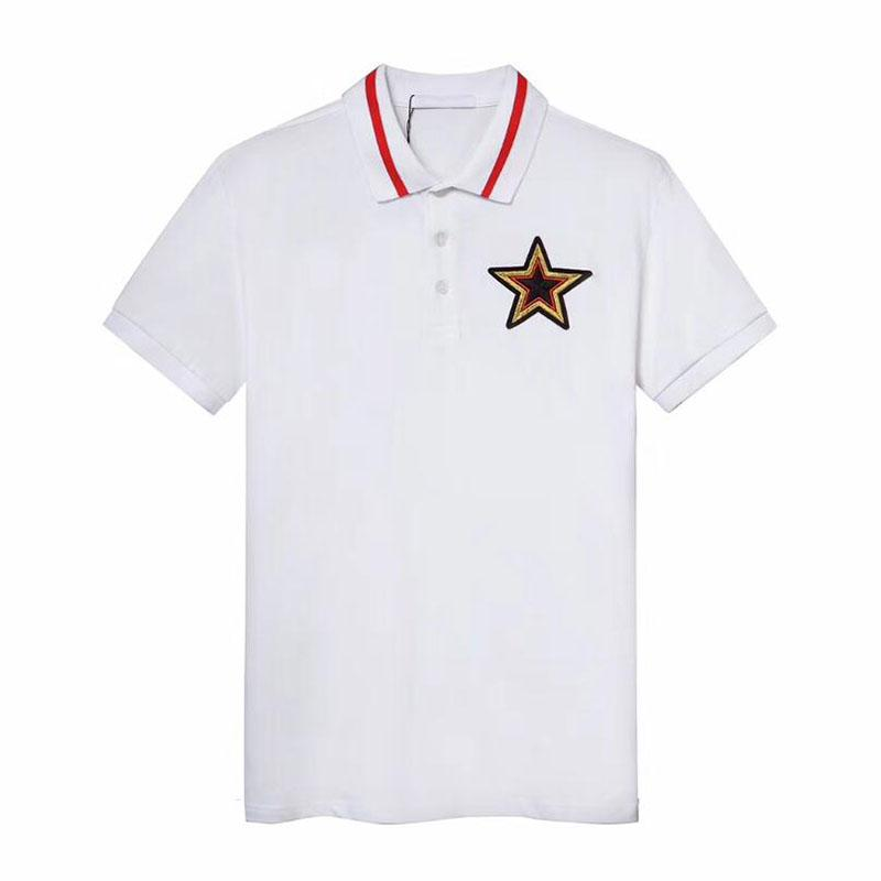 Fashion Men's Polos Shirts Hot Mens Design Star Embroidery Polo Shirts Summer Mens 2020 Tide Men Clothes Polo Shirts