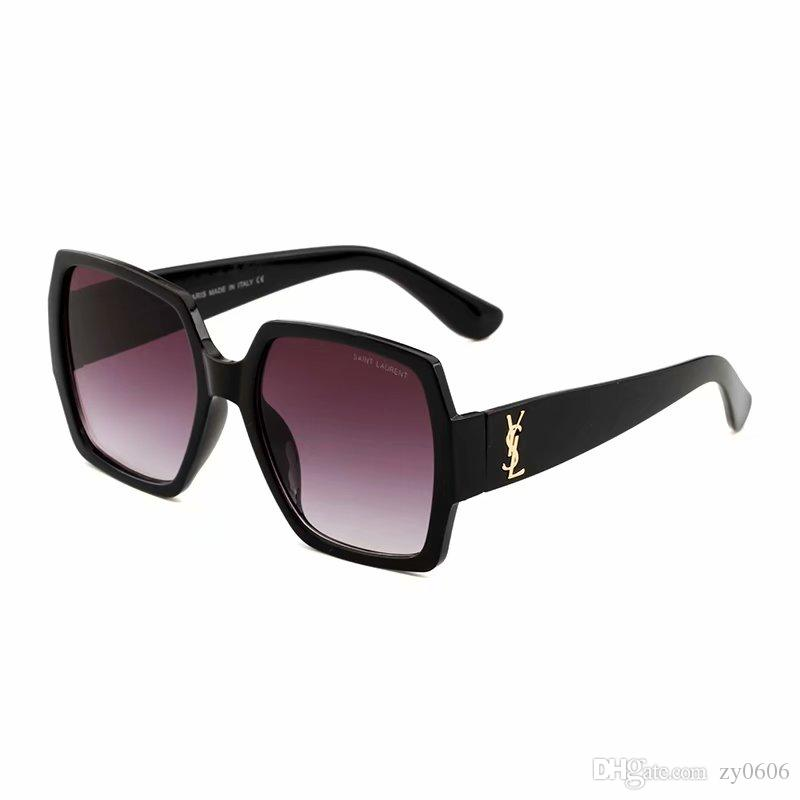 Toptan Yüksek Kalite Marka Güneş gözlükleri erkek Moda Kanıt Güneş Gözlüğü Tasarımcı Gözlük erkek Womens Için Büyük Çerçeve Güneş gözlükleri 55931.