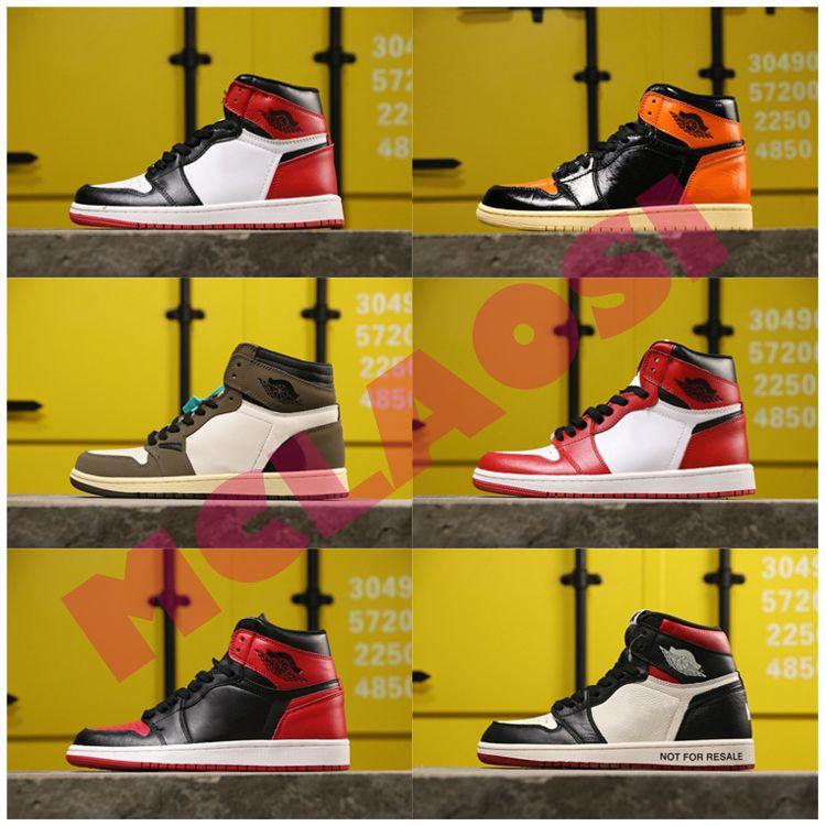 2020 sapatos Top 1 High OG Travis Scotts Basquetebol, Chicago Mens Sem L's, quebrado encosto 3.0 Homens Esporte Designer sapatilhas
