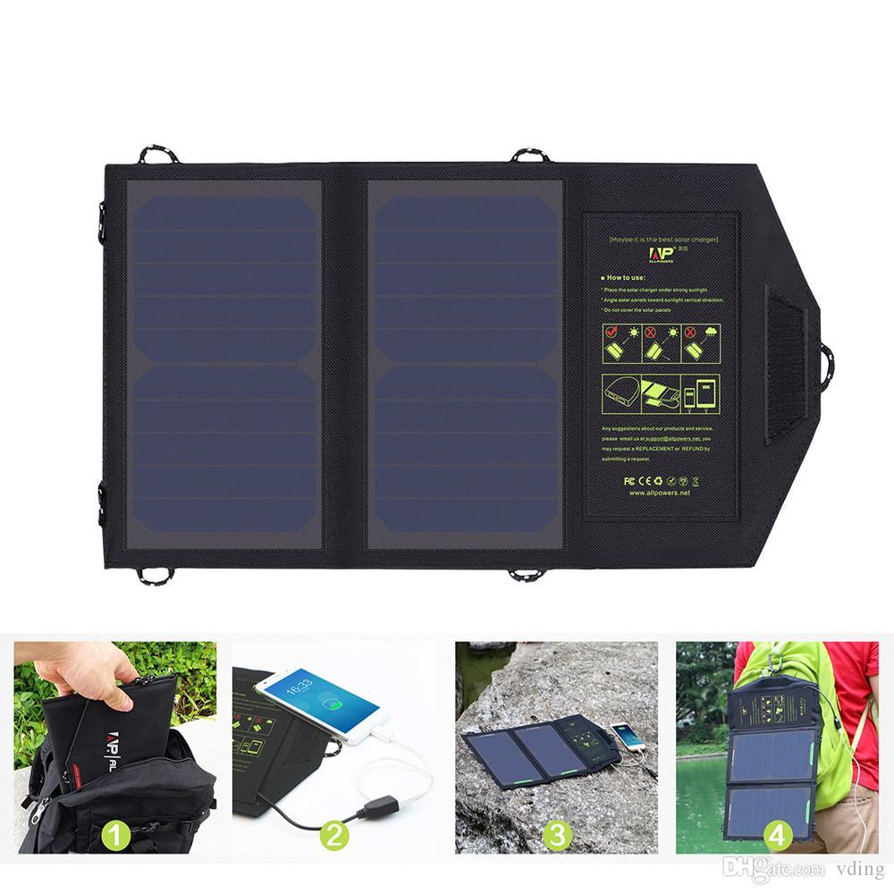 Панель солнечных батарей 10W 5V Солнечное зарядное устройство портативные зарядные устройства солнечной батареи зарядка для телефона для пеших прогулок и т. д. На открытом воздухе