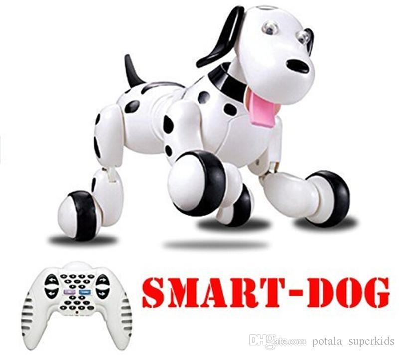 생일 선물 RC의 확대경 개 2.4G 무선 원격 제어 스마트 개 전자 애완 동물 지능형 교육 어린이 장난감 로봇 RC 사랑스러운 개