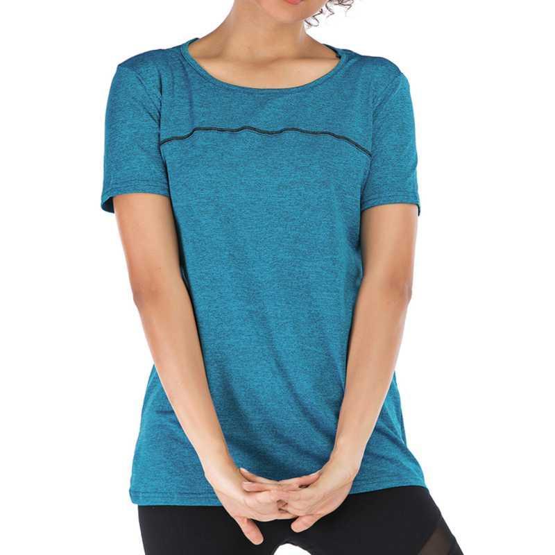 Mesh Short Sleeve Hızlı Kurutma Gömlek Moda Günlük Ç Boyun Vahşi Kadın T Running Kadın Spor Tişörtlü İnce