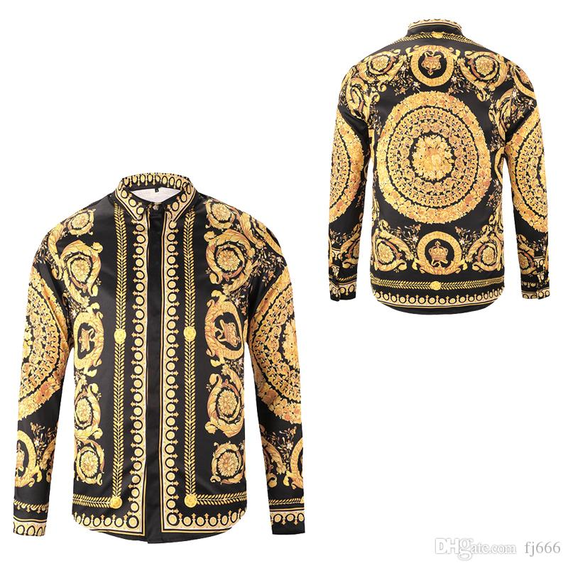 Fashion Men's Dress Shirts Mens Business Designer Shirts Casual Shirt Men Long Sleeved Luxury Medusa Fancy Slim Fit Shirts Tops