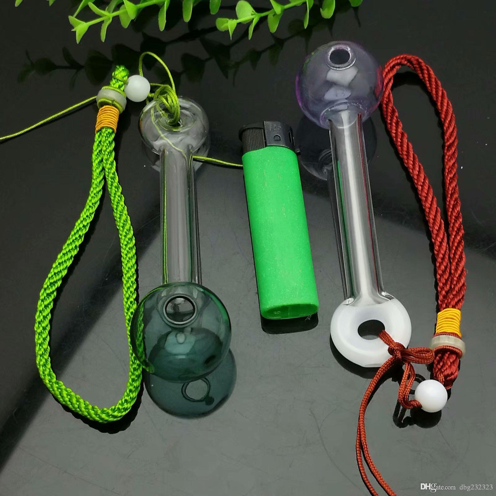 Vetro colorato corda schiuma fumatore bong di vetro Oil Burner bicchiere d'acqua tubo di olio Rigs fumatori Rigs libero