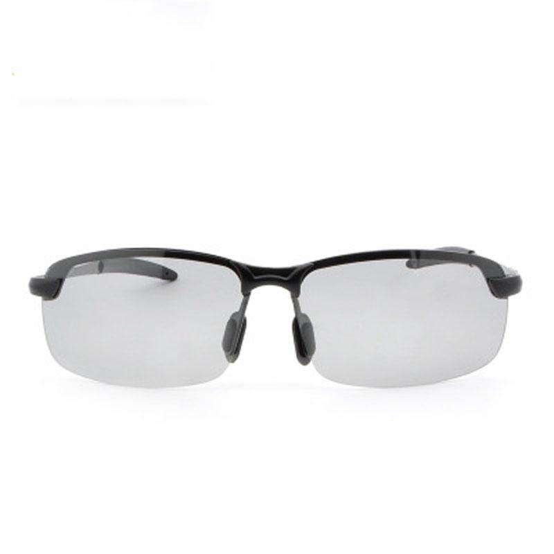 Toptan-Erkek renk değiştiren güneş gözlüğü anti-UV Chameleon Gözlük Gündüz Gece Görüş Sürüş Gözlük sürme polarize sürüş