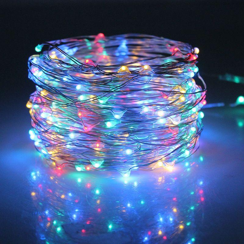 Edison2011 20 개 무료 DHL 5 메터 50 LEDs 구리 와이어 문자열 요정 빛 Chistmas 조명 RGB 조명 크리스마스 파티 웨딩 장식
