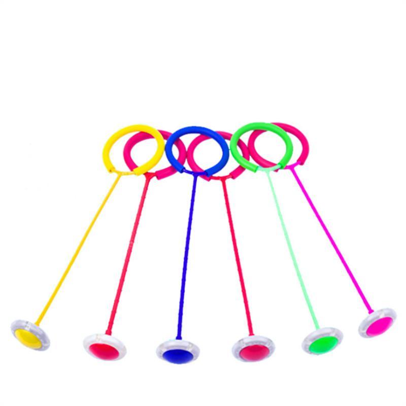 Светящиеся прыгающие шарики одна нога мигающие Пропустить Шаровые скакалки Спорт Свинг Болл Дети Фитнес Игра Fun развлечения Игрушки