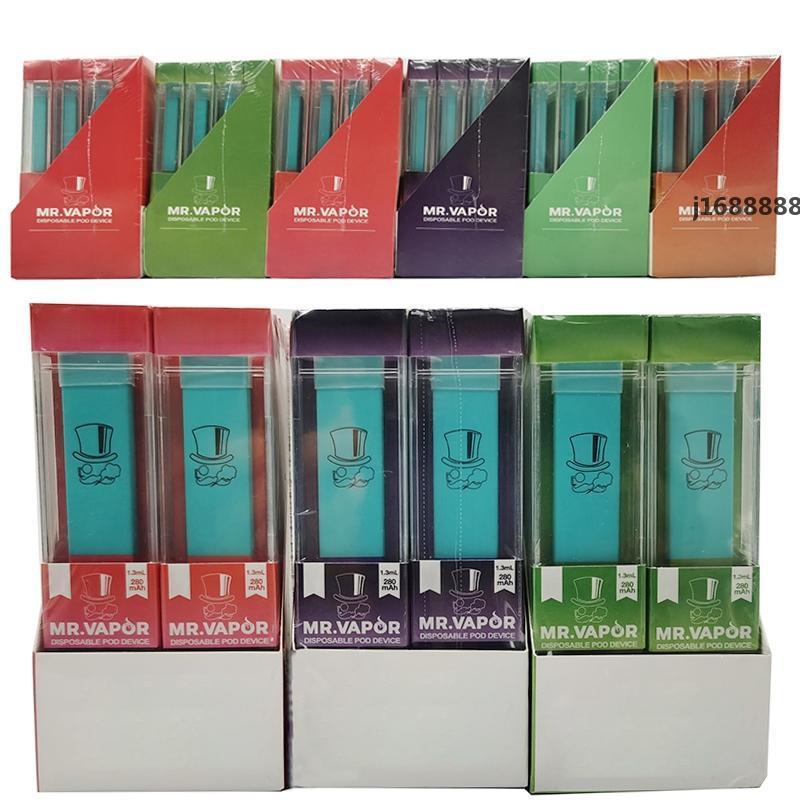 MR VAPOR Einweg-Pod Geräte 1,3 ml Kapazität 280mAh Batterie Starter Kits E-Zigaretten leeren Kugelschreiber mit Verpackung VS Bidi-Stick Einweg-Pen