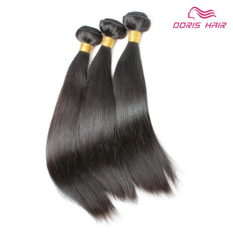 Human Pacotes cabelo sedoso Straigh Virgin Cabelo Weave 3pcs os pêlos Lote Alta Qualidade brasileira tramas frete grátis