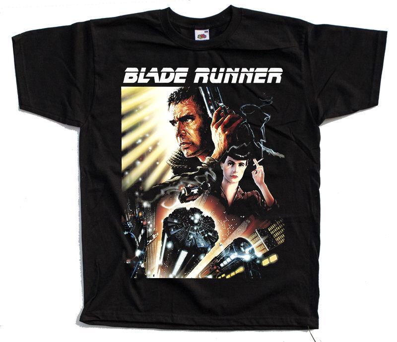 Blade Runner V3 Movie Poster 1982 Camiseta Negro Todos los tamaños S a 4xl O - Cuello Oversize Style Camisetas Estilos
