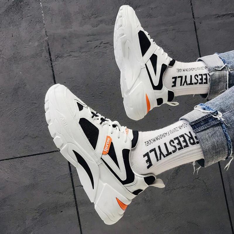 Ayakkabı Koşu Bej Beyaz Turuncu Graffiti Moda Erkekler Eğitici Nefes Açık Spor Sneaker Ücretsiz Kargo hepsi maç