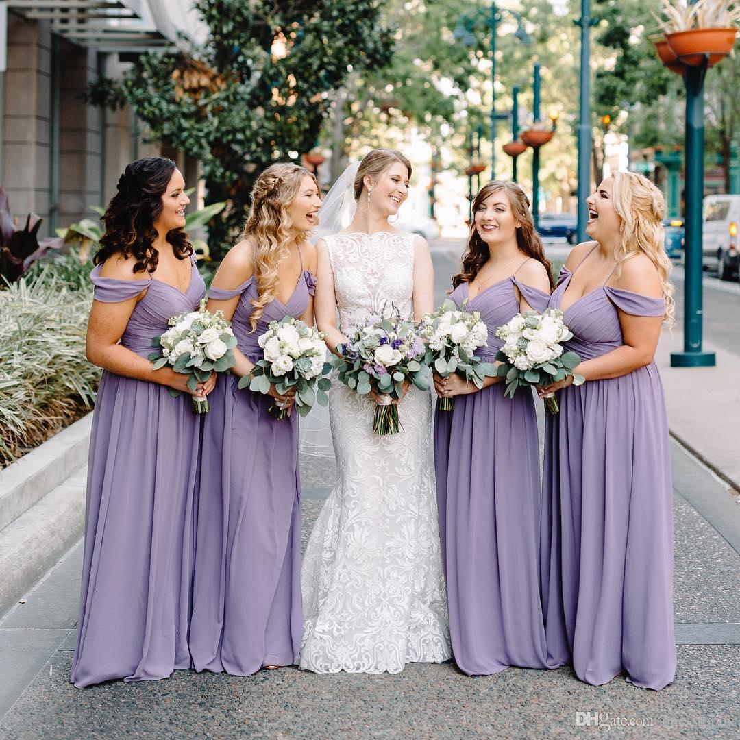 New Chiffon Bridesmaid Dresses Floor Length Lilac Plus Size Maid Of Honor  Evening Prom Dresses BM0630 Custom Made Teal Bridesmaid Dress Black ...