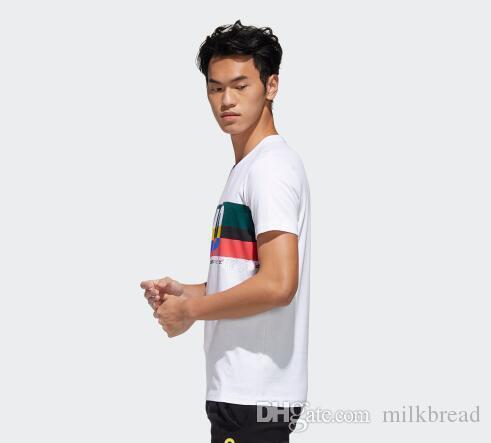 Fashion summer big letter print box logo mens designer t shirts cotton short sleeve sport t shirt for men o neck breathable male top
