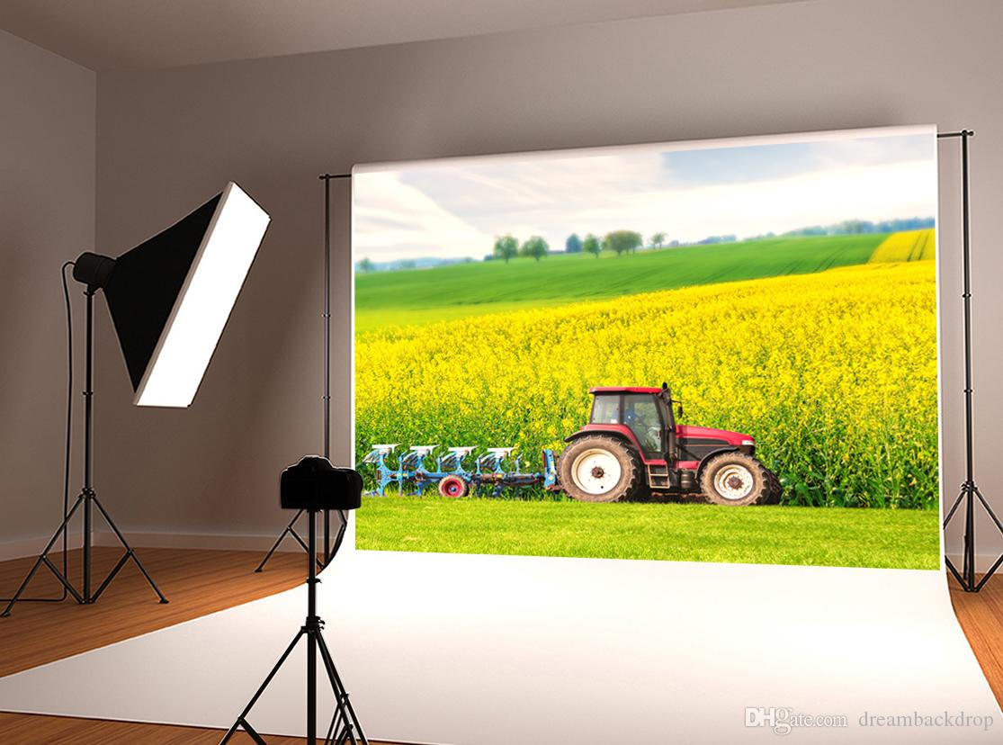 8x12 FT Windmill Vinyl Photography Backdrop,Canola Meadow Stormy Day Victorian Goldfields Agricultural Farmland Background for Photo Backdrop Baby Newborn Photo Studio Props