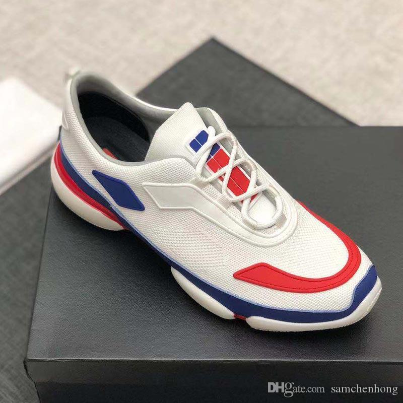 Zapatos de diseño Cloudbust Mejor calidad Blanco Hombres Mujeres Zapatillas de deporte de cuero real Zapatos casuales de lujo Zapatos de diseño de París