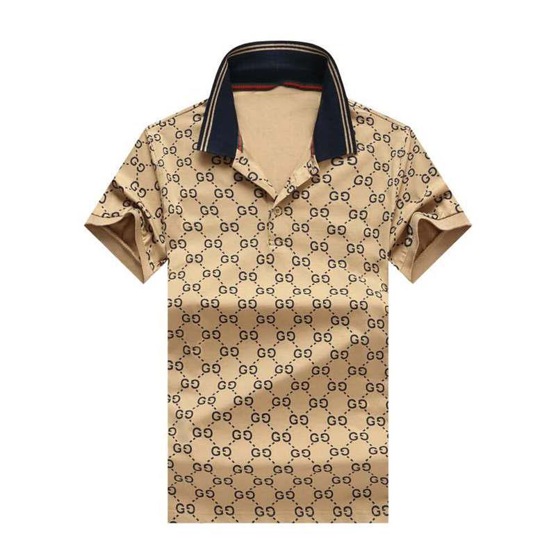 Designer Herren Polos Sommer Luxus-Polo für Männer weichen T-Shirts mit Stickerei Marke Striped Ansatz fester Kleidung M-3XL3